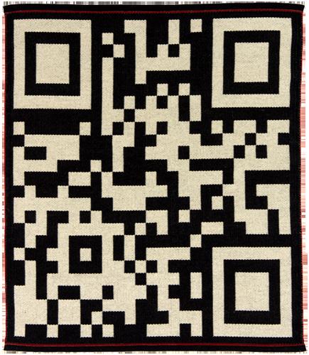 handwoven wool rug by Nancy Kennedy