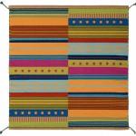 Splash! - handwoven wool rug by Nancy Kennedy